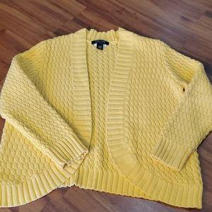 Yellow Sunshine Chunky Cardigan Sweater